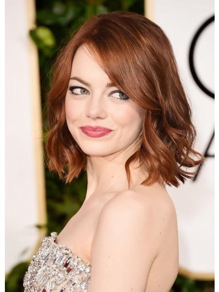 Medium Lace Front Wavy Human Hair Wig