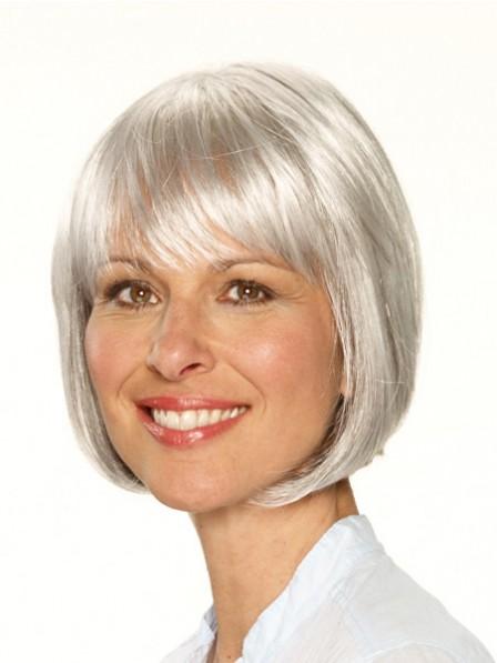 Bob Grey Short Synthetic Wig