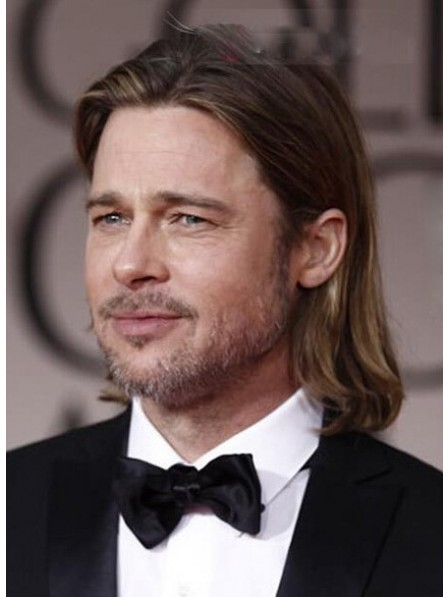 8238e3421 Full Lace Shoulder Length Human Hair Wigs For Men