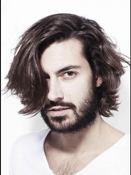 Wavy Human Hair Mens Wig