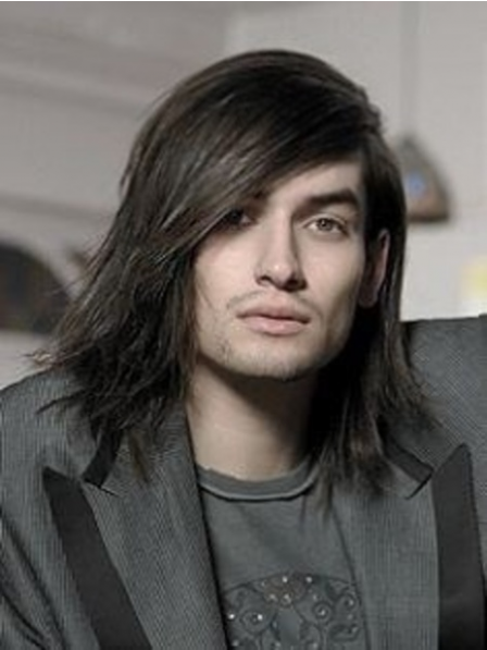 Full Lace Mid-Length Straight Wig For Men