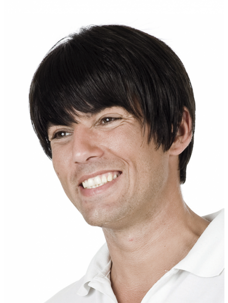 Synthetic Mens Hair Wig With Bangs