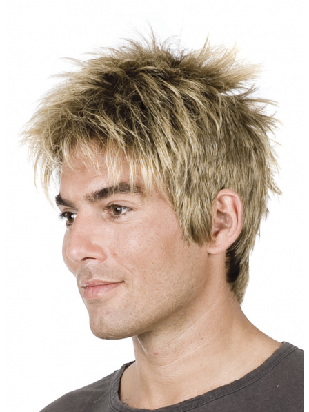 Cropped Mens Hair Synthetic Capless Wig