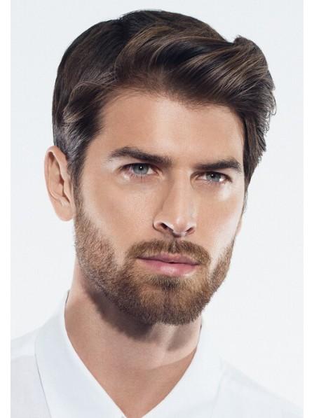 Mens Full Short Wavy Synthetic Hair Wig