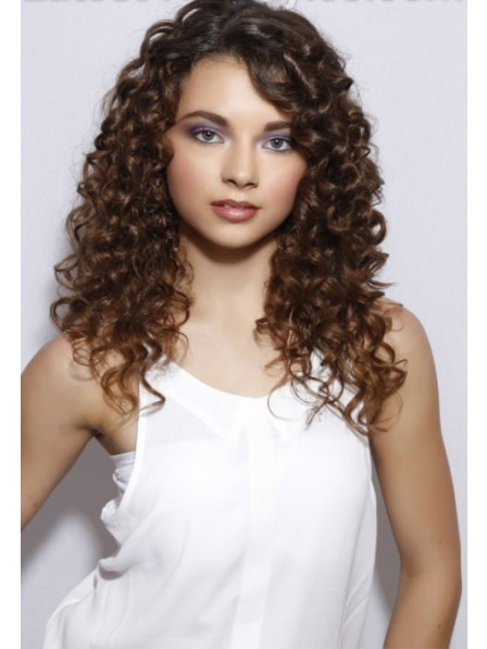 Long Lace Front Mono Top Curly Wig