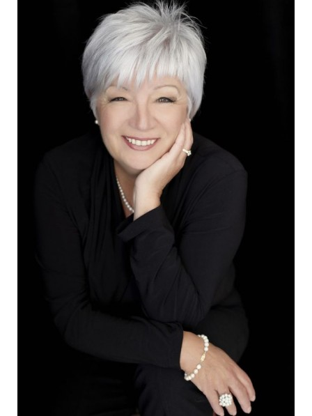 04c8dde8fb8353 Old Ladies White Grey Synthetic Hair Wig With Bangs - Rewigs.co.uk