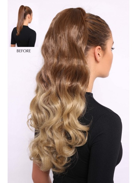 Ombre Wavy Luxe 20inch Curly Ponytail