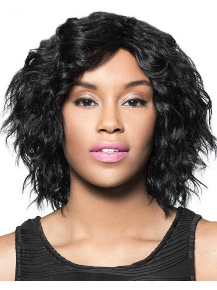 On-Trend Mid-Length Bob Wig In 100% Real Human Hair