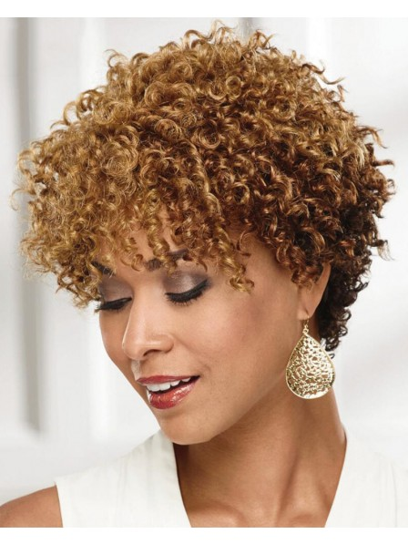 On-Trend Short Wig With Rich Bouncy Layers Of Tight Corkscrew Curls