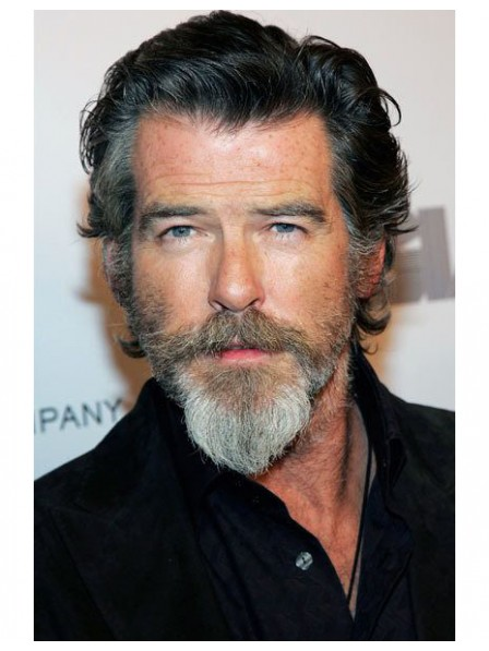 Pierce Brosnan Same Style Curly Capless Lace Front Wigs