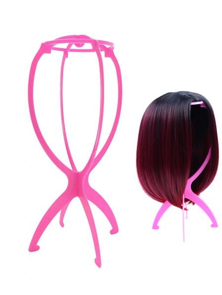 Pink Plastic Wig Stand Holder Mannequin Head Wig Stands