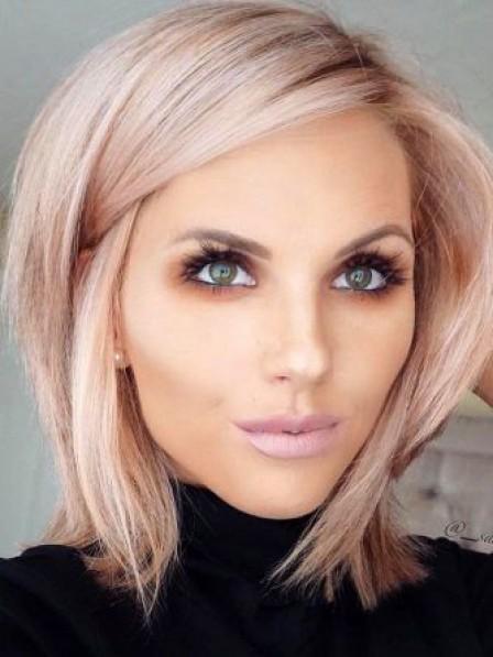 Popular Chin Length Capless 100% Human Hair Straight Wigs