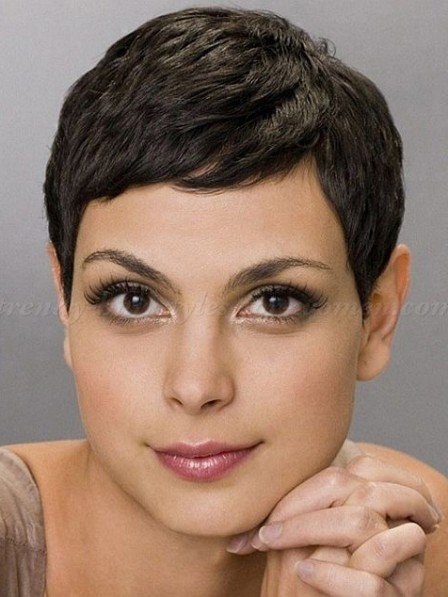 Popular Pixie Cut Black Lace Front Synthetic Celebrity Wigs