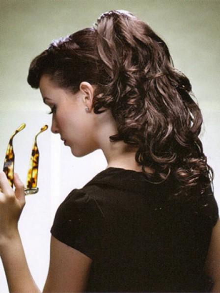 "18"" Wavy Auburn 100% Human Hair Claw Clip Ponytails"
