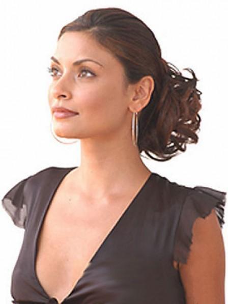 "5"" Curly Auburn 100% Human Hair Claw Clip Hair Wraps"