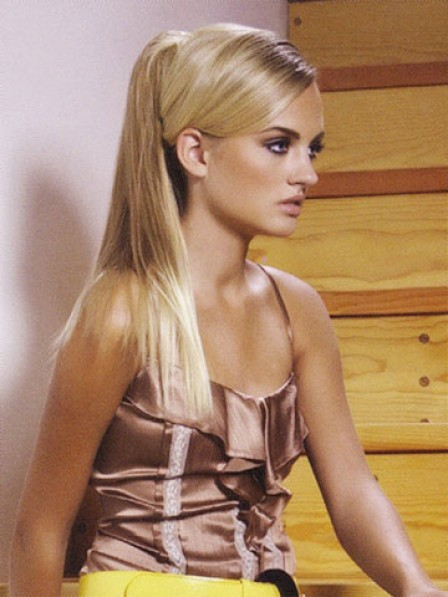 """18"""" Straight Blonde Heat Friendly Synthetic Hair Claw Clip Ponytails"""