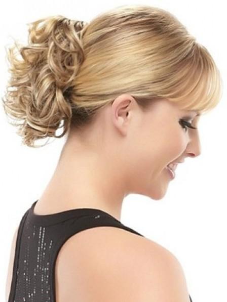"""8"""" Curly Blonde Hair Claw Clip Hair Wraps"""