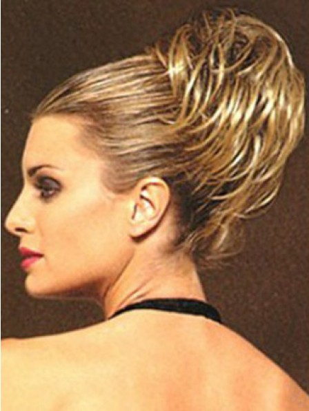 """5"""" Straight Blonde Heat Friendly Synthetic Hair Claw Clip Hair Wraps"""