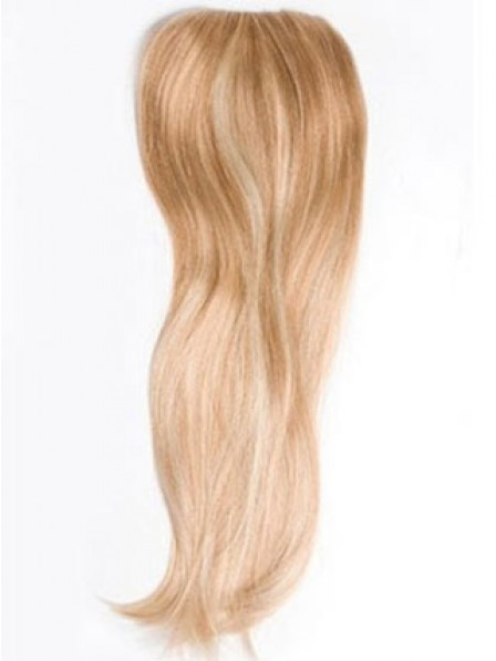 "20"" Straight Blonde 100% Human Hair Mono Hair Pieces"