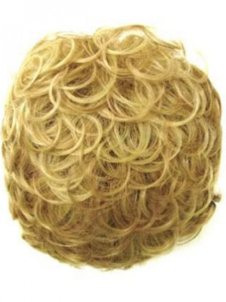 "4"" Curly Blonde Human Hair Hair Pieces"