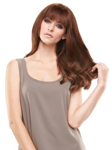 """6.5"""" * 9.5"""" Straight Auburn 100% Human Hair Capless Bangs"""