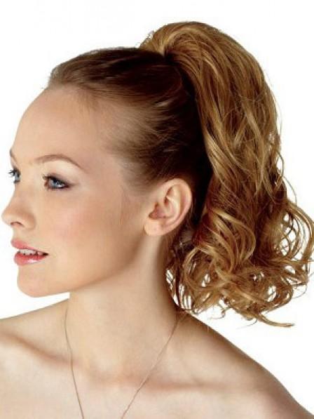 "14"" Curly Blonde Heat Friendly Synthetic Hair Elastic Net Hair Wraps"