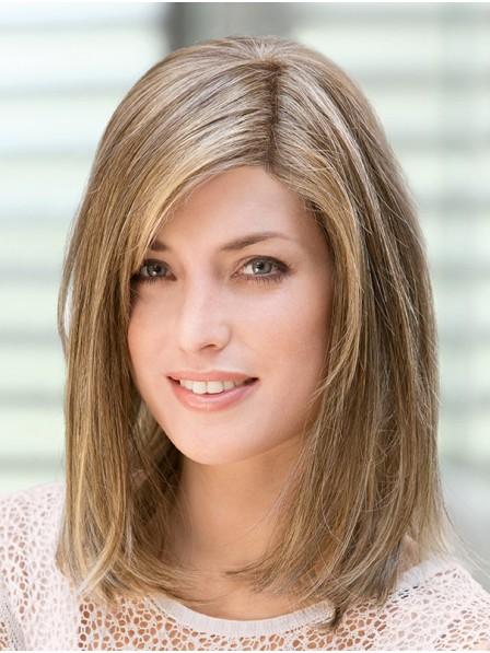 """14"""" Straight Blonde 100% Human Hair Mono Hair Topper"""