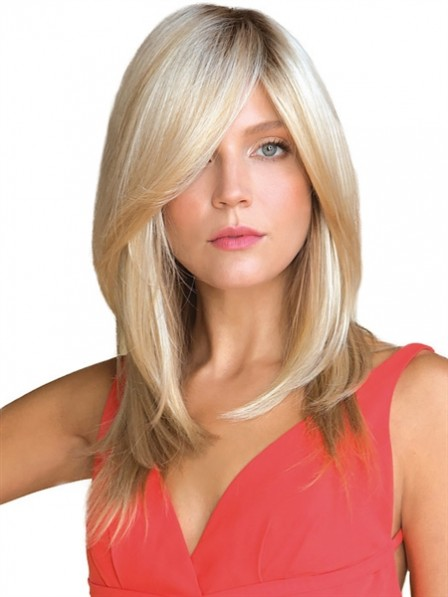 "16"" Straight Blonde 100% Human Hair Mono Hair Pieces"