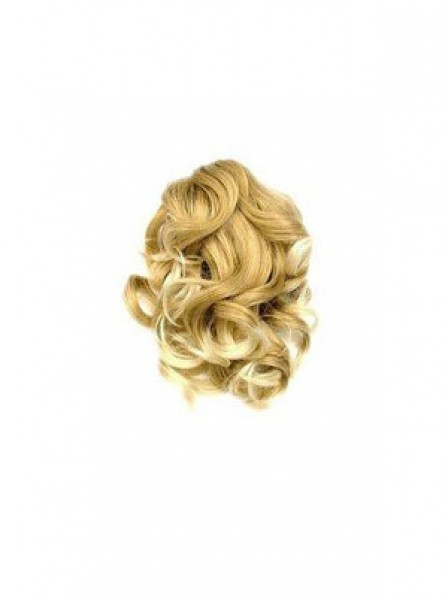 "10"" Curly Blonde Heat Friendly Synthetic Hair Claw Clip Ponytails"