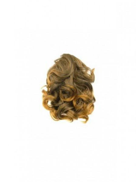 """8"""" Curly Brown Synthetic Hair Claw Clip Ponytails"""