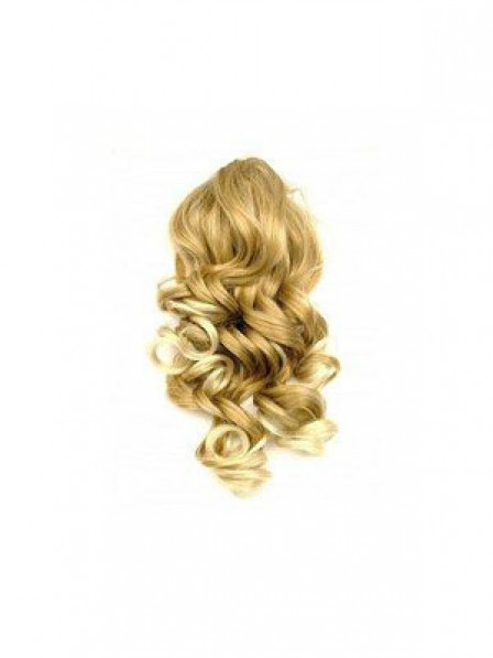 """16"""" Wavy Blonde Heat Friendly Synthetic Hair Claw Clip Ponytails"""