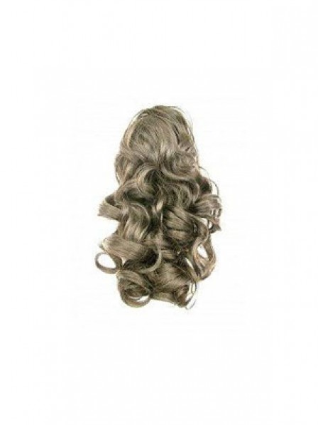 """16"""" Wavy Brown Heat Friendly Synthetic Hair Claw Clip Ponytails"""