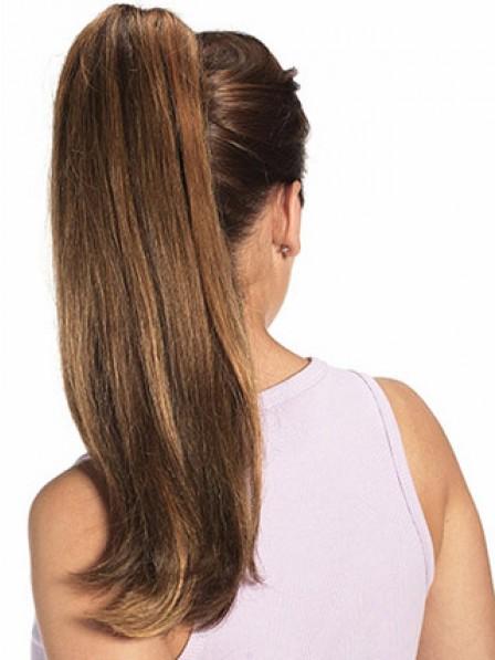 """20"""" Straight Auburn 100% Human Hair Claw Clip Ponytails"""