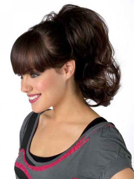 "10"" Wavy Auburn Heat Friendly Synthetic Hair Claw Clip Ponytails"