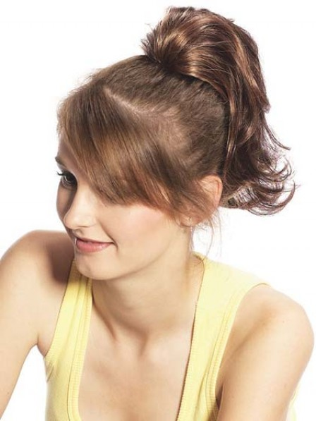"""12"""" Wavy Brown Heat Friendly Synthetic Hair Claw Clip Ponytails"""