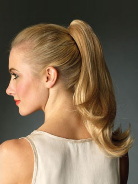 """16"""" Wavy Heat Friendly Synthetic Hair Claw Clip Ponytails"""