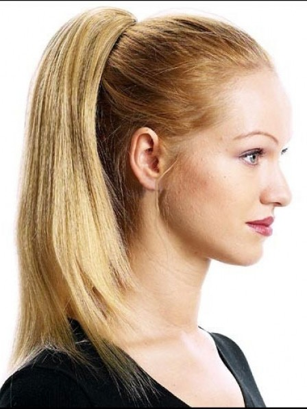 """14"""" Straight Blonde 100% Human Hair Claw Clip Ponytails"""