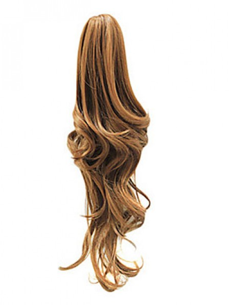 """22"""" Wavy Blonde Heat Friendly Synthetic Hair Claw Clip Ponytails"""