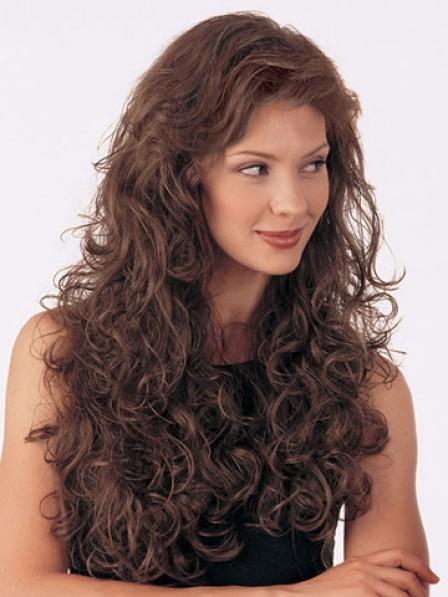 Wavy Auburn Human Hair 1/2 Wigs Hair Pieces