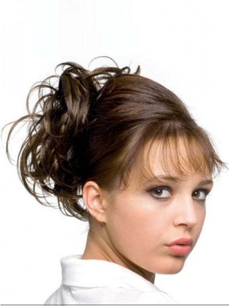 "6"" Brown Heat Friendly Synthetic Hair Scrunchie Hair Wraps"
