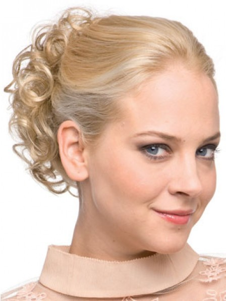 """4"""" Blonde Heat Friendly Synthetic Hair Claw Clip Hair Wraps"""