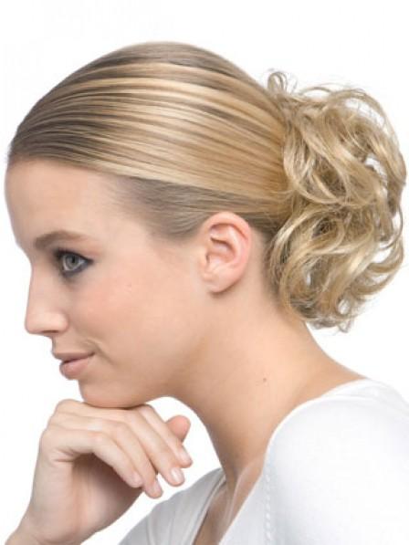 "4"" Heat Friendly Synthetic Hair Scrunchie Hair Wraps"