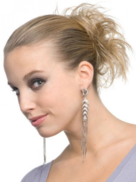 "4"" Blonde Heat Friendly Synthetic Hair Scrunchie Hair Wraps"