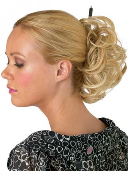 "4"" Blonde Heat Friendly Synthetic Hair Elastic Net Hair Wraps"