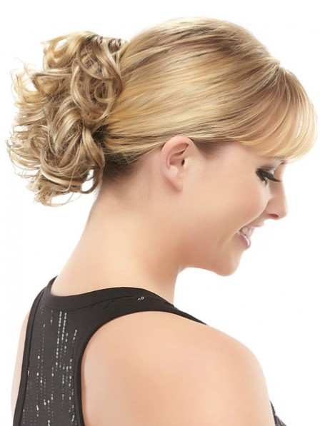 """5"""" Blonde Heat Friendly Synthetic Hair Claw Clip Hair Wraps"""