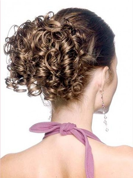 """5"""" Curly Brown Heat Friendly Synthetic Hair Claw Clip Hair Wraps"""