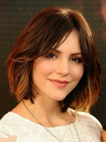 Pretty Lace Front Chin Length Straight Bob Wigs Real Hair