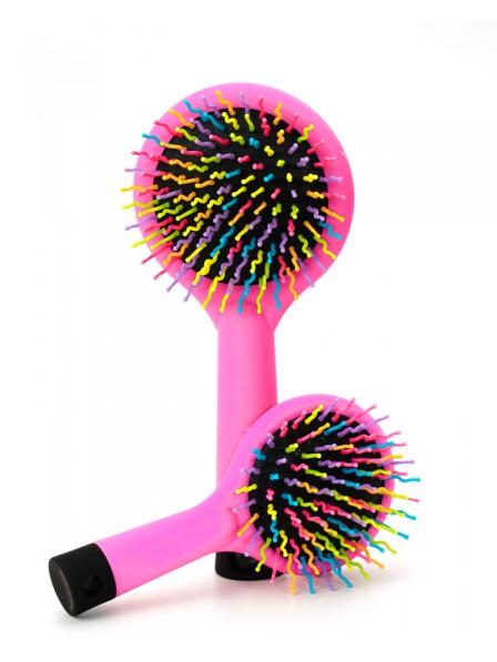 Rainbow Brush Perm Wave Straight Beauty Comb with Mirror