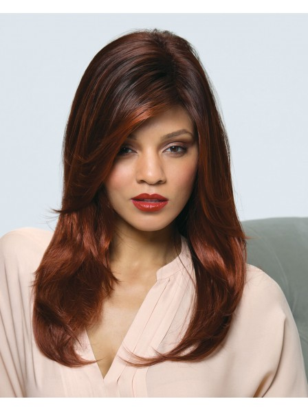 Red Long Staright Capless synthetic hair wig