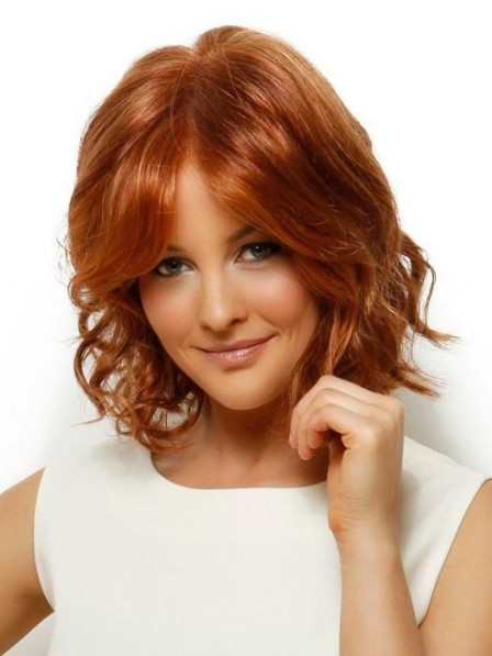 Red Loosely Waved Lace Front Wig